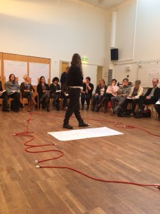Workshop i medskapande ledarskap arrangerad av Region Östergötland.